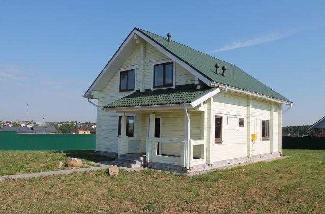 дом под отделку в коттеджном поселке